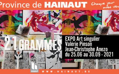 Exposition 21 grammes à Charleroi
