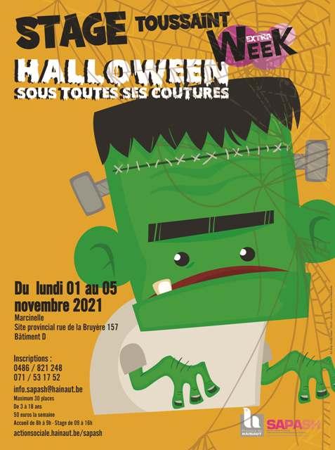 Stage inclusif Halloween novembre 2021 avec le SAPASH